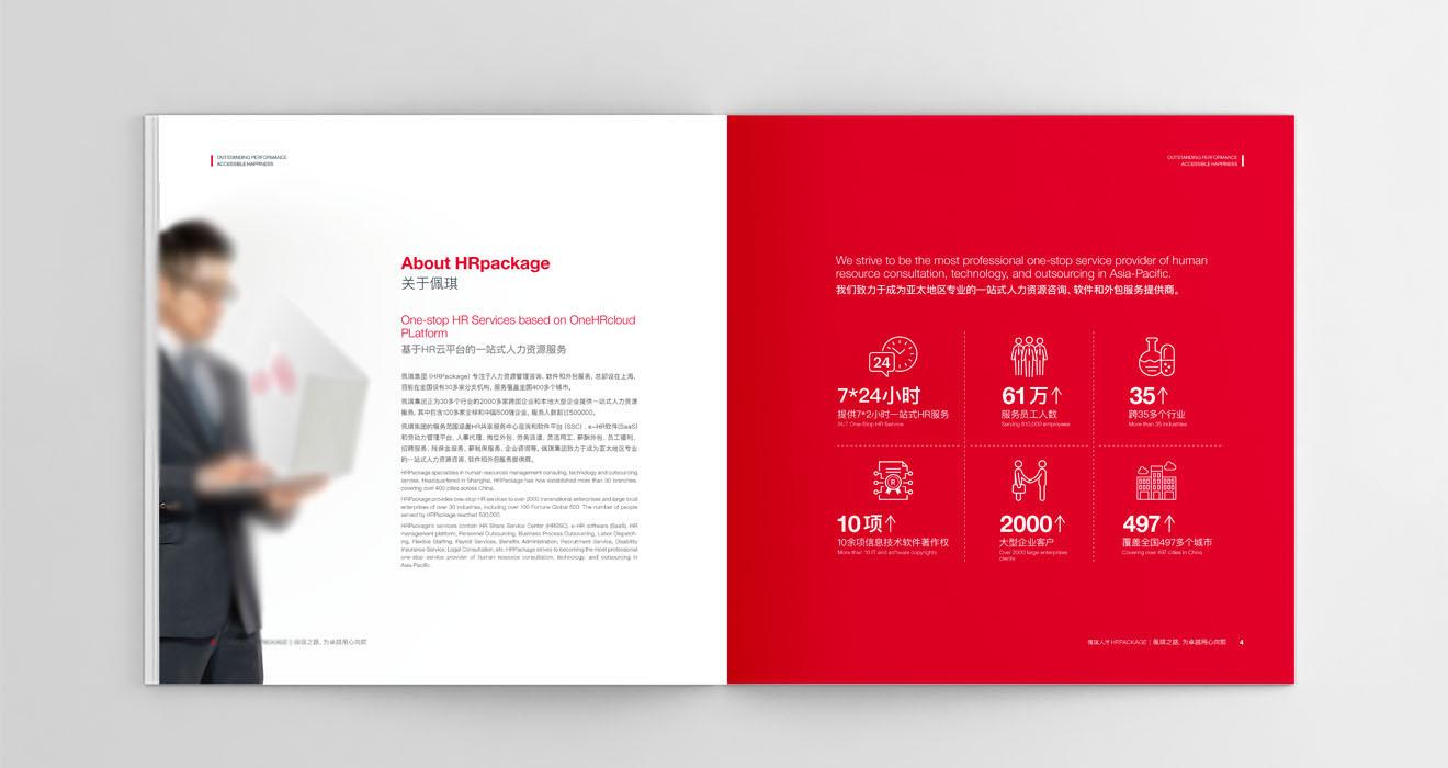 资源管理咨询公司宣传册设计